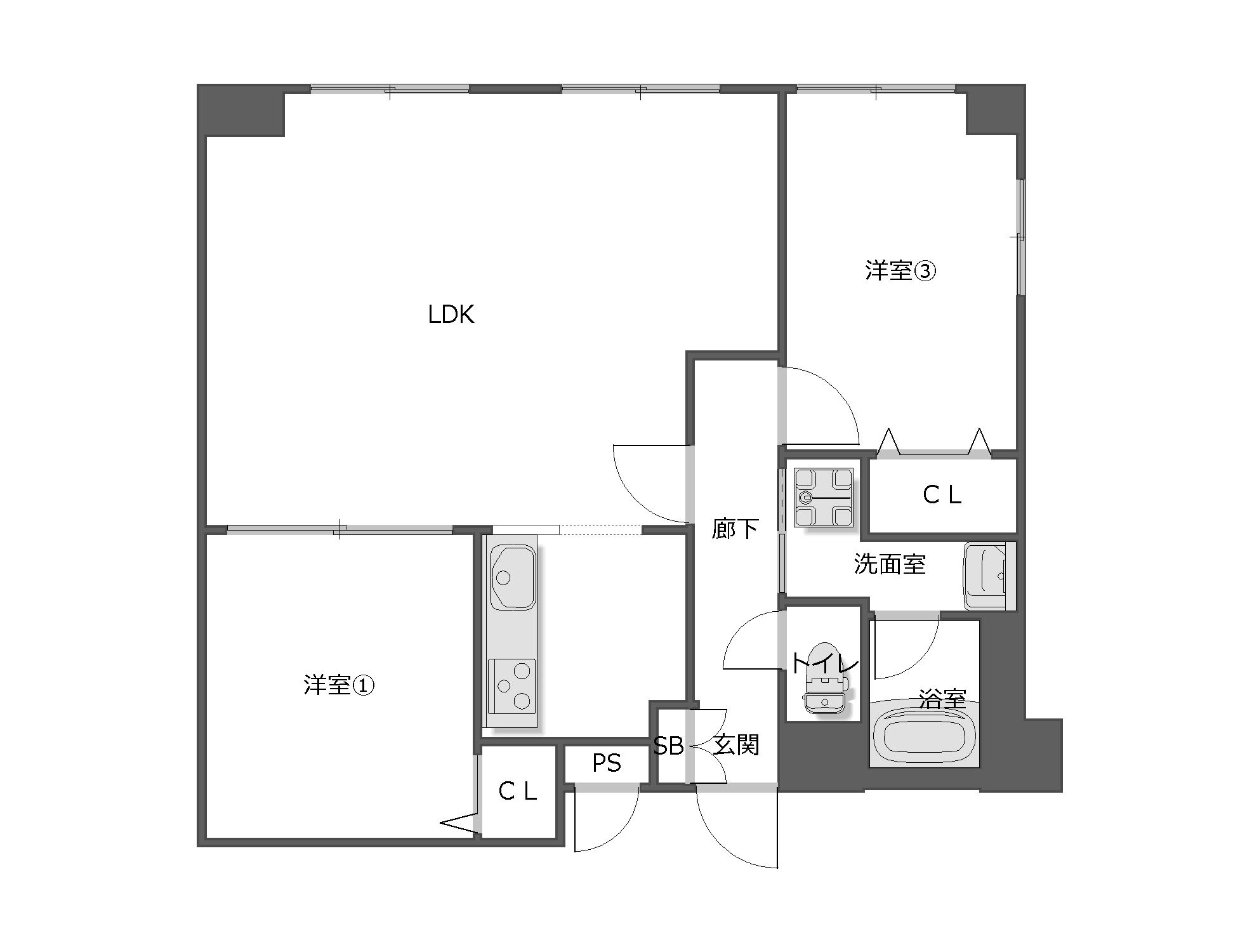 2LDK 愛知県名古屋市・空室対策後