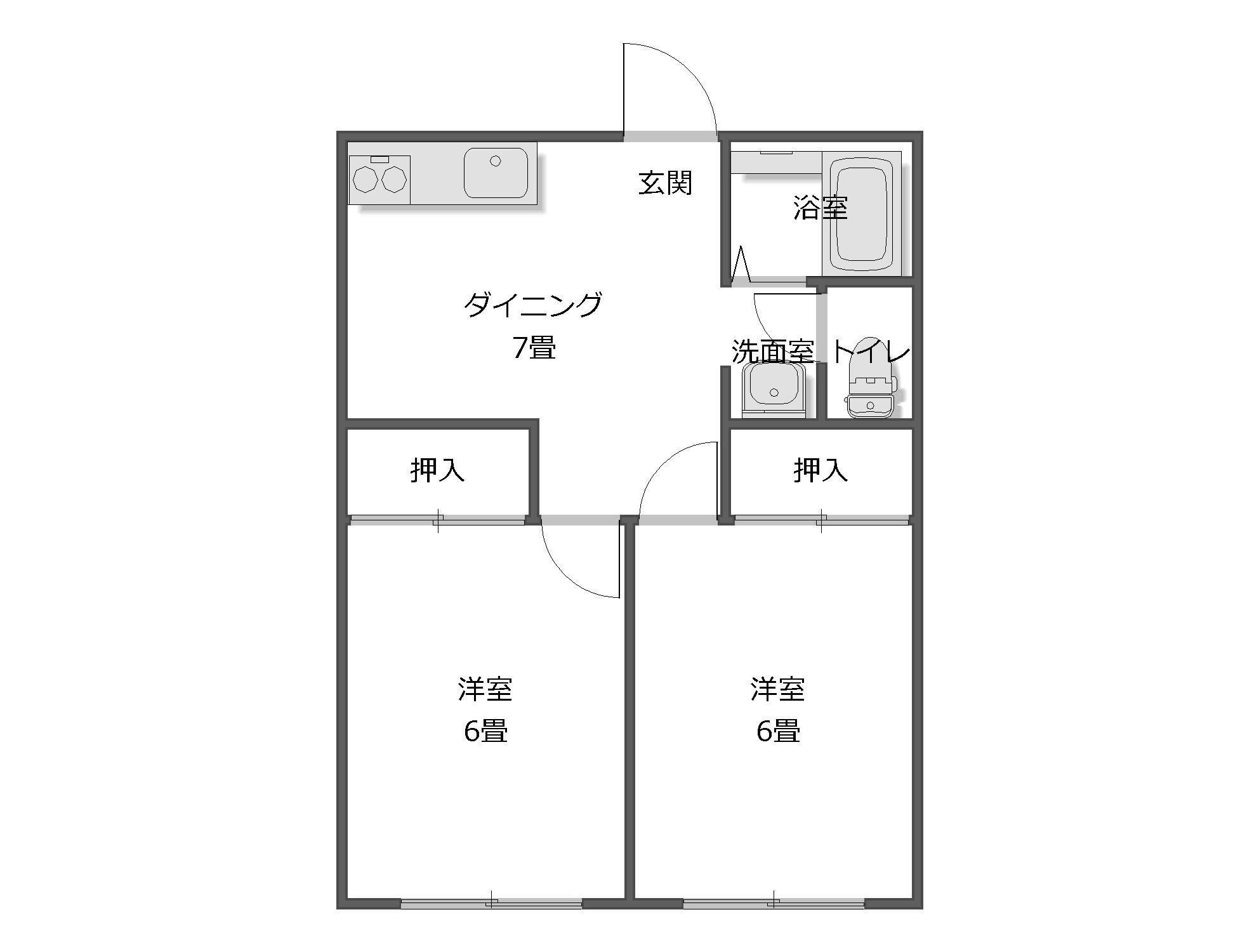 2DK 東京都三鷹市・空室対策前