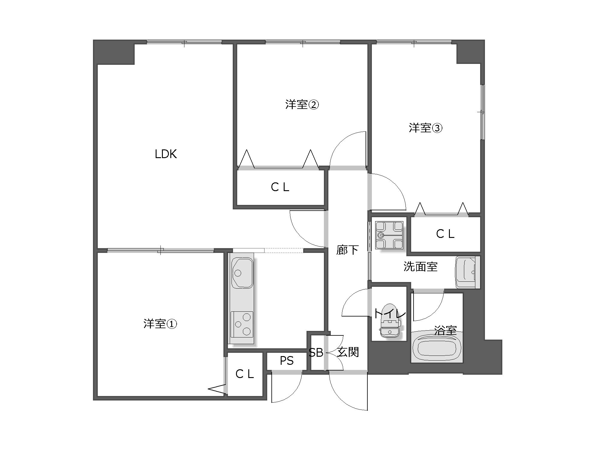 2LDK 愛知県名古屋市・空室対策前
