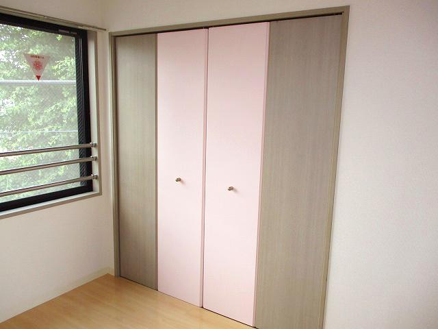 ピンクカラーがテーマのお部屋。・空室対策後