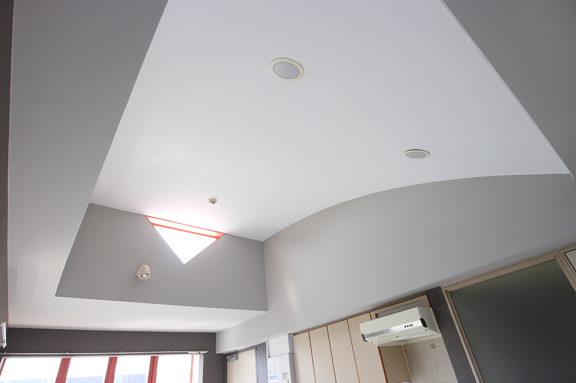 リノベーション後の天井